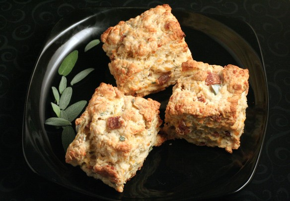 Sage, Bacon and Cheddar Biscuits