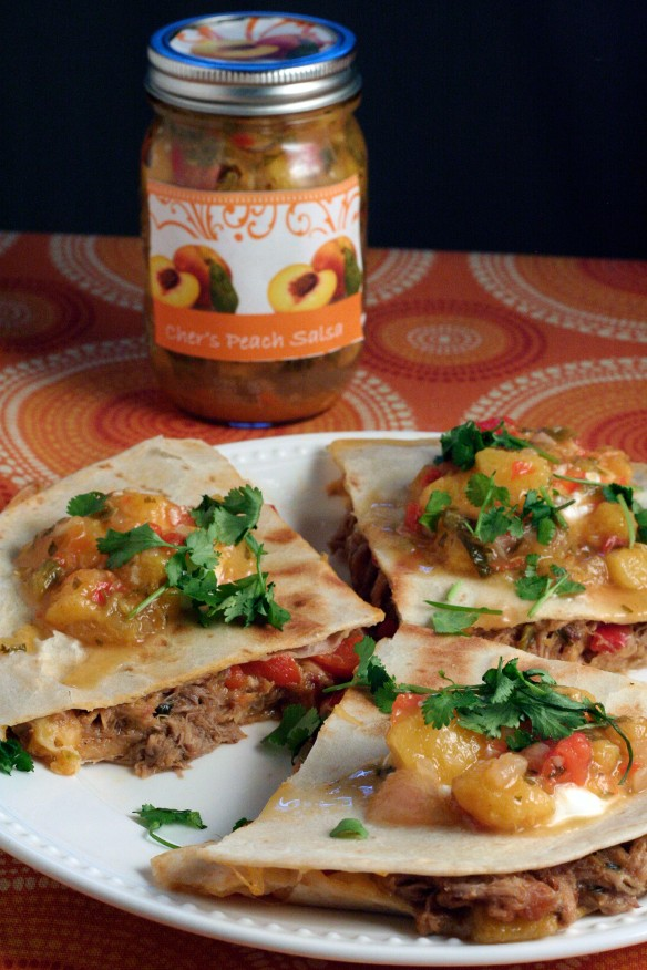 Pulled Pork and Peach Salsa Quesadilla - March 2013 Blog