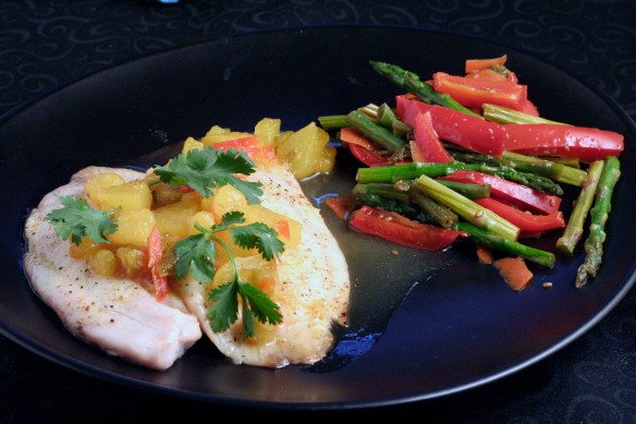 Tilapia with Pear Salsa - Blog H